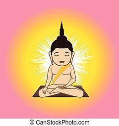 Gautama Buddha Vector Illustration