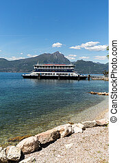 Ferry boat on Lake Garda. Garda Lake is one of the most...