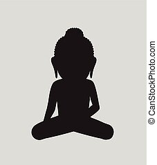 Mahavira Saint Vector Silhouette Illustration