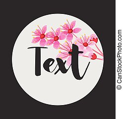 Spring Flowers Vector Background