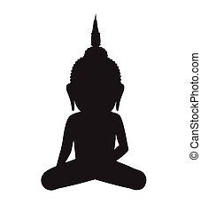 Gautama Buddha Vector Silhouette
