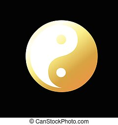 Yin-Yang Symbol Vector Illustration