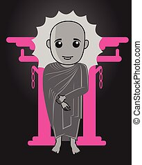 Tibetan Monk Shinto Illustration - Tibetan Monk Shinto...