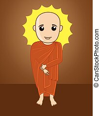 Divine Tibetan Monk Illustration - Divine Tibetan Monk...