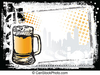 beer fest background - sketching of the beer fest background
