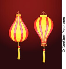 Traditional Chinese Lantern Vector