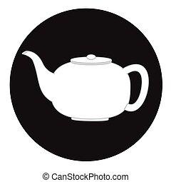 Ceramic Teapot Vector Illustration