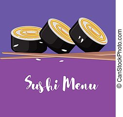 Sushi Menu Card Vector
