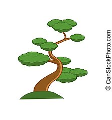 Bonsai Plant Vector Illustration
