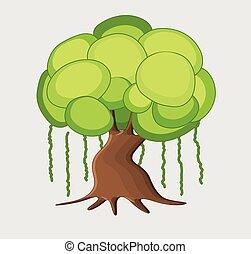 Dwarf Tree Vector Illustration