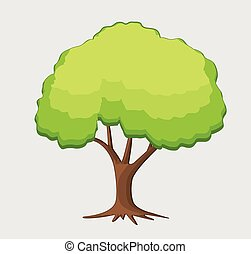 Pine Bonsai Vector Illustration