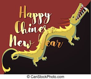 Happy Chinese New Year Greeting Card Vector Illustration