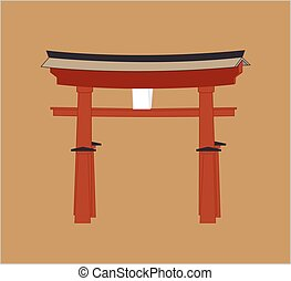 Shinto Gate Vector Illustration