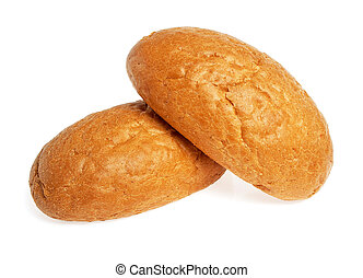Wheat buns isolated on white background