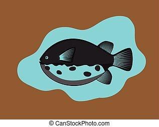 Retro Takifugu Fish