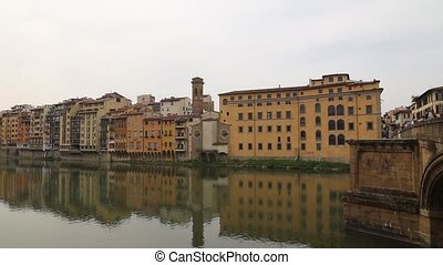 Firence Italy river bridges and Hou - DSLR Full HD...