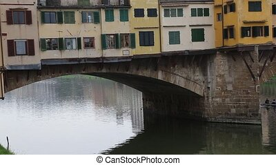 Firence Italy river bridges and Houses - DSLR Full HD...