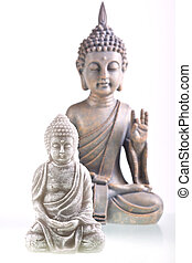 Little buddha - Stilllife with two little buddha