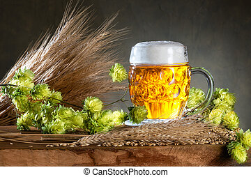 beer glas and raw material for beer production