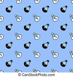 Salt and Pepper Seamless Pattern on Blue. Spices for Cooking