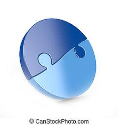 two piece circular puzzle