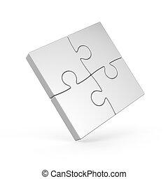 four piece 3d puzzle