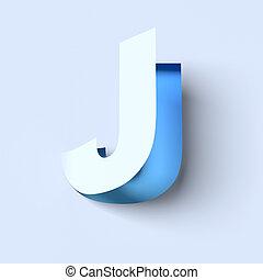 cut out paper font letter J - cut out paper font letter J 3d...