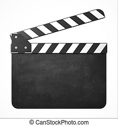 movie clapper with copy space 3d isolated illustration
