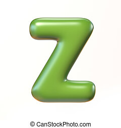 Bubbly 3d font letter Z illustration