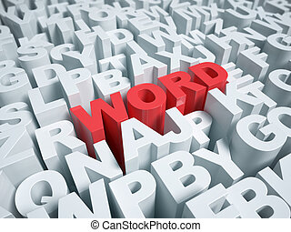 word 3d background