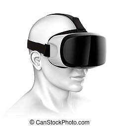 Virtual reality headset 3d rendering