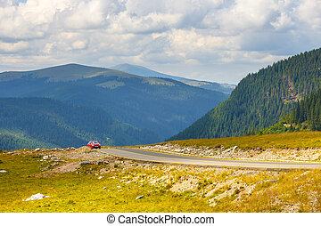 Landscape of Transalpina road in Parang Mountains, Romania