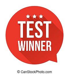 Test Winne speech bubble