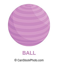 Fitness ball icon cartoon Single sport icon from the big...