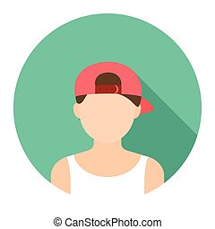 Boy in cap icon cartoon Single avatar,peaople icon from the...