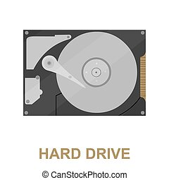 Hard disk icon cartoon. Single PC icon from the big...