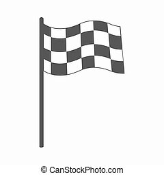 Checkered flag icon cartoon Single sport icon from the big...