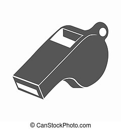 Whistle icon cartoon. Single sport icon from the big...