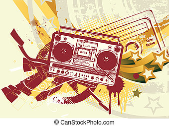 abstract background - Vector illustration of Grunge styled...