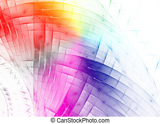 Colored background - Abstract colorful waves and random...