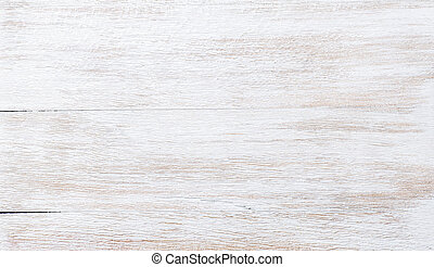 Old threadbare white painted wooden texture, wallpaper or...