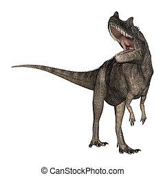 3D Rendering Dinosaur Ceratosaurus on White - 3D rendering...