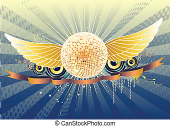 abstract party design - Vector illustration of shiny...