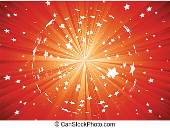 Abstract background - Vector illustration of red background...