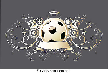 winged soccer emblem - Vector illustration of winged soccer...