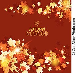 Background with fall maple leaves