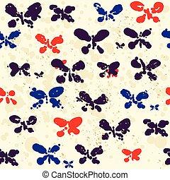 Abstract butterflies pattern