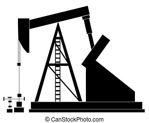 black silhouette of an oil pump