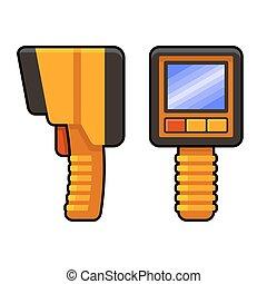 Thermal Imaging of Underfloor Heating Camera. Vector...