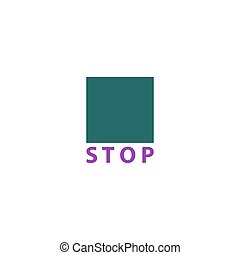 Stop Icon Vector. Flat simple color pictogram